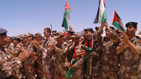 Crowds-Of-Jordanian-Air-Force-Military-Personnel-Cheer-For-The-Camera-4