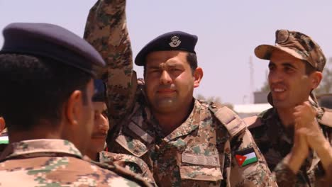 Crowds-Of-Jordanian-Air-Force-Military-Personnel-Cheer-For-The-Camera-5