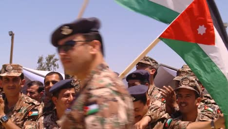 Crowds-Of-Jordanian-Air-Force-Military-Personnel-Cheer-For-The-Camera-6