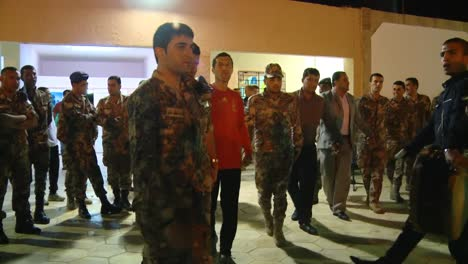 Members-Of-The-Jordanian-Military-Dance-And-Sing-With-Us-Troops-At-A-Party-At-Night-In-Jordan