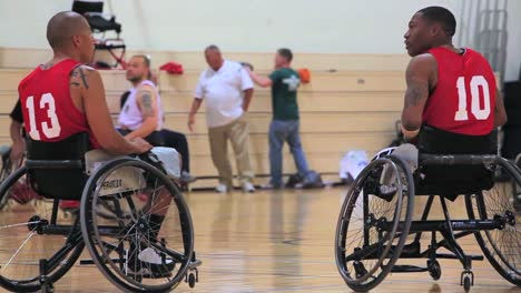 Wounded-And-Disabled-Army-Veterans-Compete-In-Wheelchair-Basketball