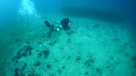 Divers-Explore-A-Shipwreck