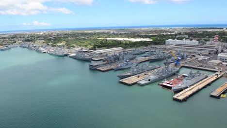Aerials-Over-Honolulu-Hawaii-And-Pearl-Harbor