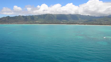 Aerials-Over-Oahu-Hawaii-And-Diamond-Head-Volcano-Waikiki