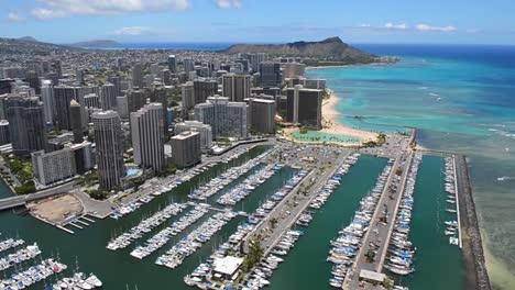 Aerials-Over-Honolulu-Oahu-Hawaii