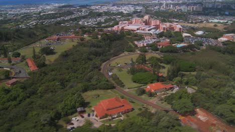 Aerial-Over-Tripler-Medical-Center-Honolulu-Hawaii