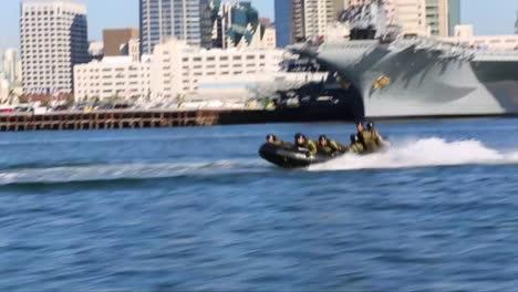Marines-Practice-An-Amphibious-Landing-Assault-In-A-Zodiac-During-A-Simulated-Terrorist-Event