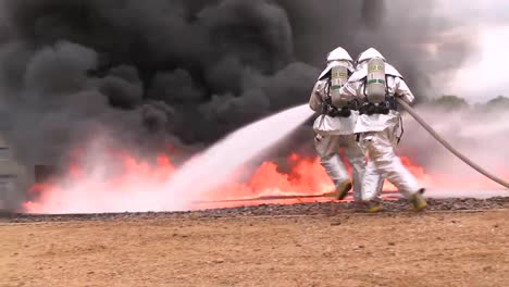 Firefighters-Battle-A-Practice-Chemical-Fire-4