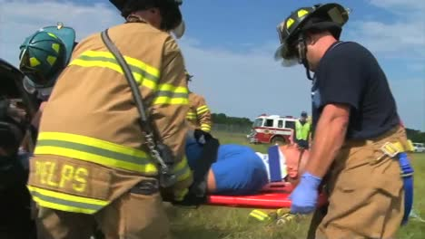 Firefighters-Practice-Responding-To-A-Car-Wreck-Rollover-Accident-3
