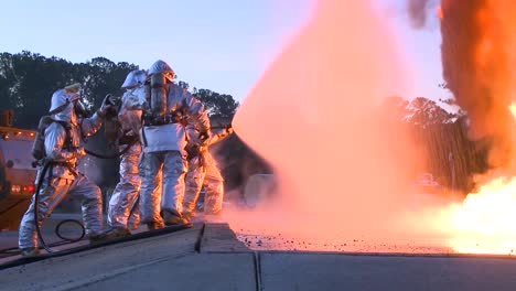 Firefighters-Battle-A-Raging-Chemical-Fire-In-A-Simulated-Airplane-Crash-1