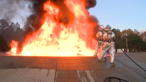 Firefighters-Battle-A-Raging-Chemical-Fire-In-A-Simulated-Airplane-Crash-2