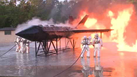 Firefighters-Battle-A-Raging-Chemical-Fire-In-A-Simulated-Airplane-Crash-3