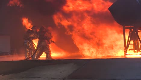Firefighters-Battle-A-Raging-Chemical-Fire-In-A-Simulated-Airplane-Crash-6