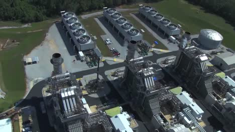 Aerial-Over-A-Power-Plant-Electric-Generation-Station