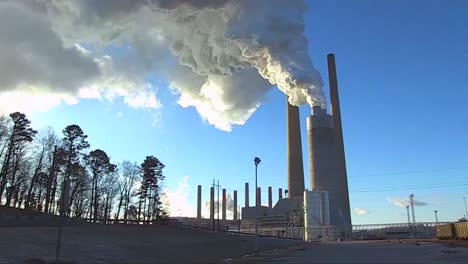 A-Coal-Fired-Power-Plant-Belches-Smoke-Into-The-Air