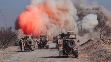 A-Huge-Ied-Explosion-Rocks-A-Road-In-Front-Of-An-American-Convoy