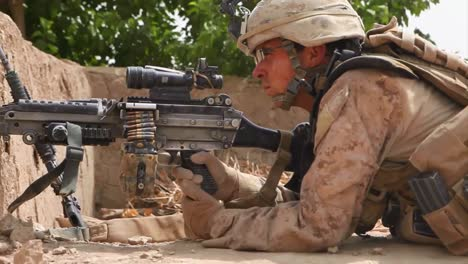 Soldiers-On-Patrol-In-Afghanistan-Remain-Vigilant-For-Snipers