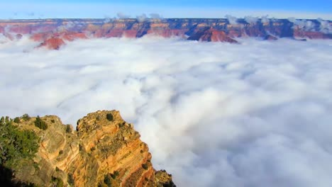 Time-Lapse-Of-Clouds-Moving-Through-The-Grand-Canyon