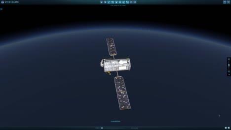Animation-Of-A-Satellite-Traveling-Through-Espacio