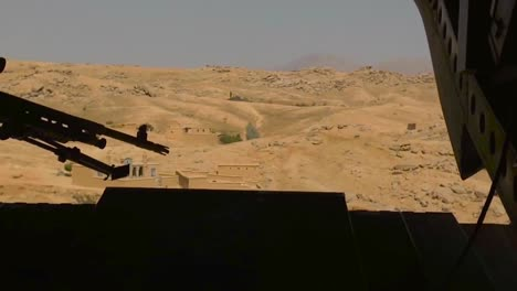 Marines-Fly-In-And-Land-A-Ch47-Chinook-Helicopter-In-Afghanistan