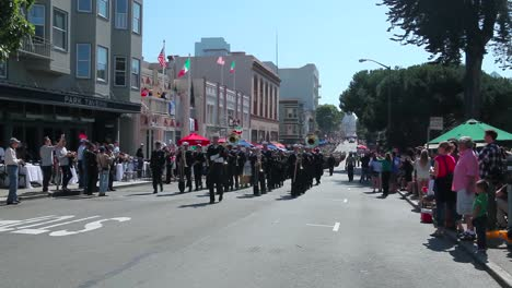 Marines-March-In-A-Ptriotic-Parade-During-Fleet-Week-In-San-Francisco-Ca