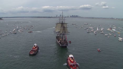 Beautiful-Aerials-Of-The-Uss-Constitution-Tall-Masted-Sailing-Vessel-In-Boston-Harbor-1