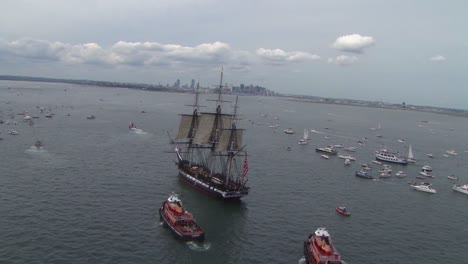 Beautiful-Aerials-Of-The-Uss-Constitution-Tall-Masted-Sailing-Vessel-In-Boston-Harbor-2