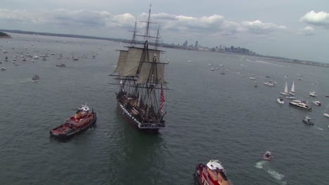 Beautiful-Aerials-Of-The-Uss-Constitution-Tall-Masted-Sailing-Vessel-In-Boston-Harbor-3