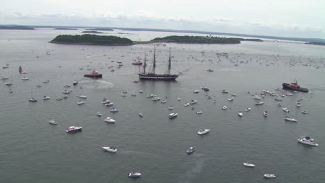 Beautiful-Aerials-Of-The-Uss-Constitution-Tall-Masted-Sailing-Vessel-In-Boston-Harbor-4