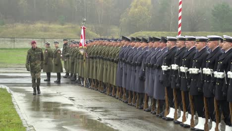 The-Polish-Army-And-Navy-Stand-In-Formation-And-Review-In-A-Formal-Ceremony-In-Poland