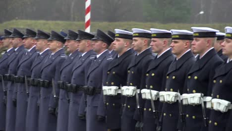 The-Polish-Army-And-Navy-Stand-In-Formation-And-Review-In-A-Formal-Ceremony-In-Poland-1