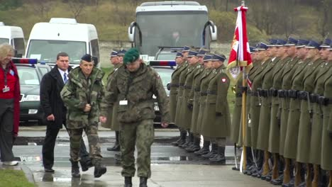 President-Bronislaw-Komorowski-Reviews-The-Polish-Army-And-Navy-In-Formation-In-A-Formal-Ceremony-In-Poland