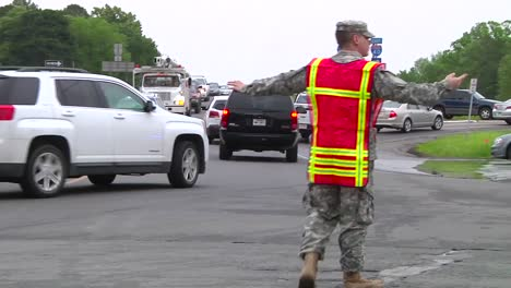 National-Guard-Troops-Manage-Traffic-And-Lead-Search-And-Rescue-Efforts-Following-A-Devastating-Tornado-In-Mayflower-Arkansas