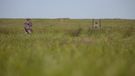 Army-Soldiers-Practice-At-An-Outdoor-Target-Range-In-Romania