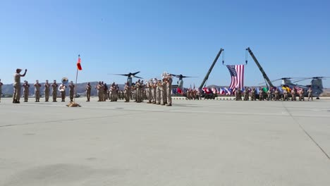 Marine-Corps-Band-Plays-On-A-Runway-At-Miramar-Air-Base