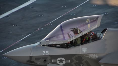 Various-Jets-Land-On-The-Deck-Of-An-Aircraft-Carrier-1