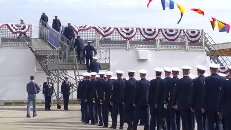 Sailors-Walk-In-Formal-Procession-Ona-Patriotic-Occasion
