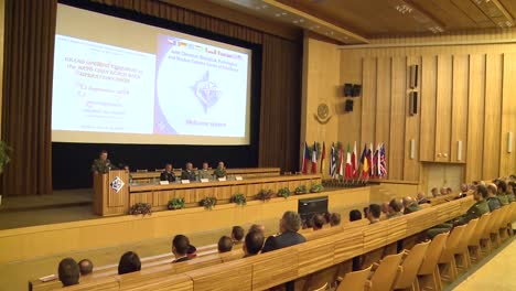 A-Large-Conference-Of-Delegates-From-Around-The-World-Discuss-Chemical-Biological-And-Radiological-Warfare
