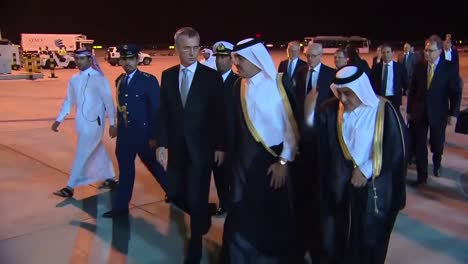 A-Nato-Entourage-Led-By-Secretary-General-Jens-Stoltenberg-Arrives-In-Qatar-And-Is-Greeted-By-Royal-Officials-1