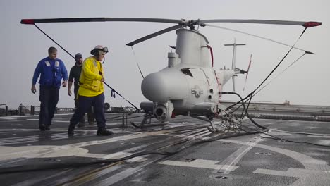 A-Fire-Scout-Drone-Helicopter-Is-Launched-From-The-Deck-Of-An-Aircraft-Carrier-1