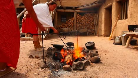Native-American-Indians-Boil-Prickly-Pear-Cactus-For-A-Traditional-Meal-At-Bents-Old-Fort-National-Historic-Site-In-Colorado