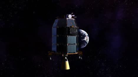 A-Conceptual-Animation-Of-Ames-Ladee-Satellite-Spacecraft-Flying-Through-Space