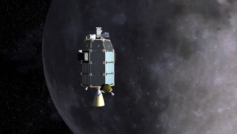 A-Conceptual-Animation-Of-Ames-Ladee-Satellite-Spacecraft-Flying-Towards-The-Moon