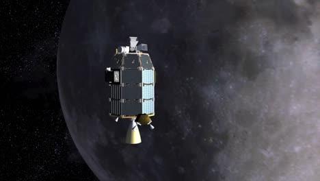 Eine-Konzeptionelle-Animation-Des-Satelliten-Raumschiffs-Ames-Ladee-Das-Auf-Den-Mond-Zufliegt