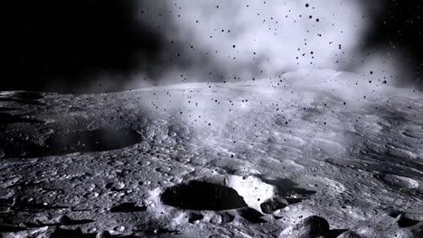 Ein-Animierter-Meteoriteneinschlag-Auf-Dem-Mond