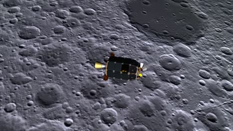 An-Animated-Spacecraft-Crashes-Into-The-Moon