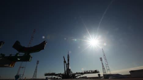 Un-Cohete-Ruso-Soyuz-Despega-De-La-Plataforma-De-Lanzamiento