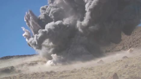 Rockets-Fired-From-Fighter-Jets-Create-A-Huge-Explosion-In-The-Desert