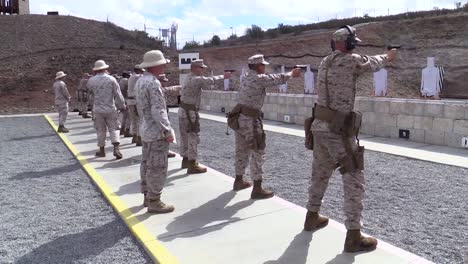 Marine-Corps-Officers-Practicing-Marksmanship-At-A-Firing-Range-4