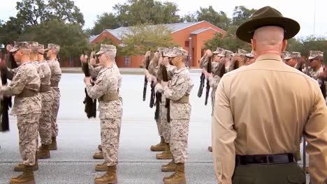 Good-Shots-Of-Marine-Corp-Marching-Drills-At-Boot-Camp